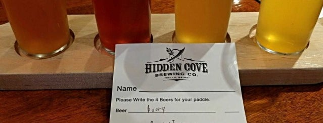 Hidden Cove Brewing Company is one of New England Breweries.