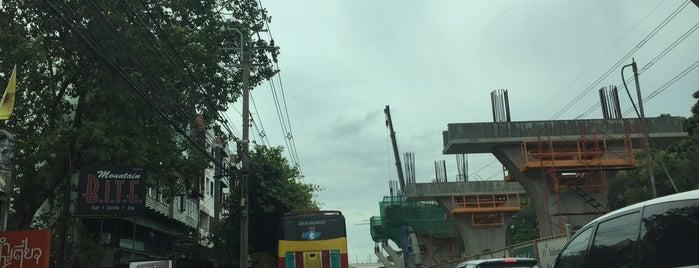 [Construction Site] BTS Krom Thahan Rap Thi Sip Et (N16) is one of BTS - Light Green Line (Sukhumvit Line).