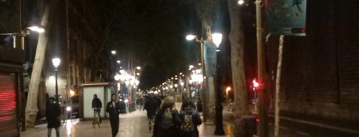 Rambla de Canaletas is one of Barcelona.