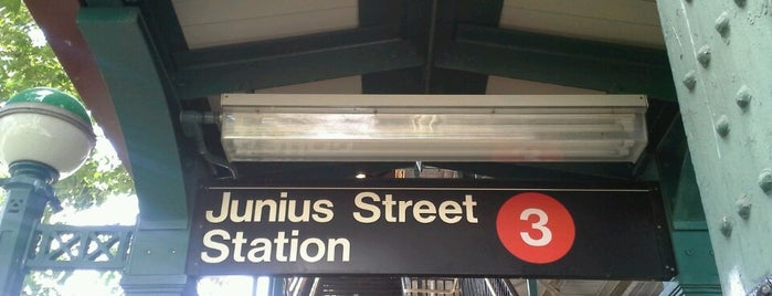 MTA Subway - Junius St (3) is one of NYC Subways 4/5/6.
