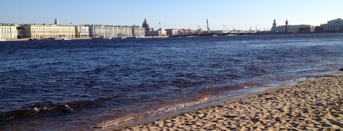 Beach of Peter and Paul Fortress is one of СПб..