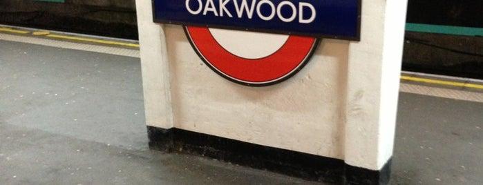 Oakwood London Underground Station is one of Tube Challenge.