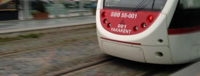 Cumhuriyet Meydanı Tramvay Durağı is one of Samsun'un Hafif Raylı Sistemleri.