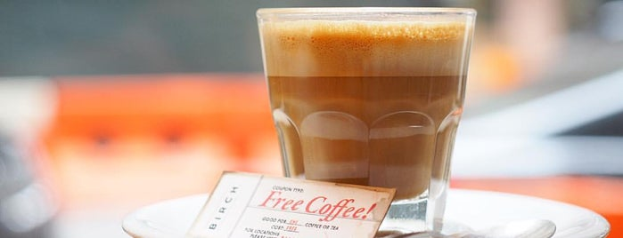 Birch Coffee is one of The 15 Best Coffee Shops in New York City.