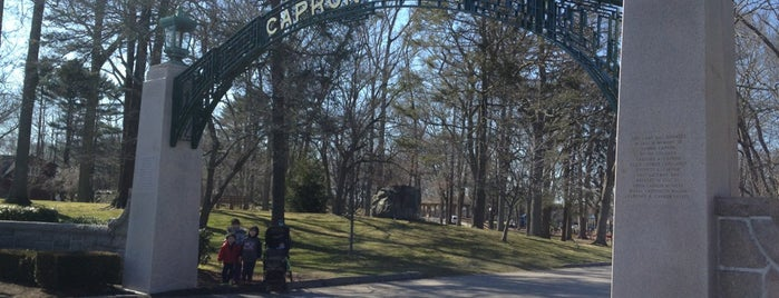Capron Park Zoo is one of just a list of places.