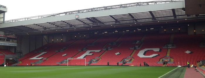 Anfield is one of Barclays Premier League Stadiums 2013-14 Season.