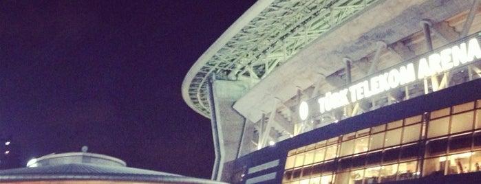 Türk Telekom Stadyumu is one of Türkiye'de En Çok Check-in Yapılan Mekanlar.