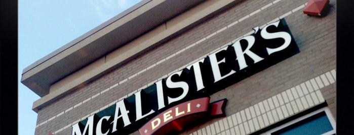 McAlisters Deli is one of 20 favorite restaurants.
