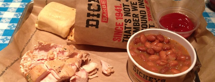 Dickey's Barbecue Pit is one of Favorite places to get food!.