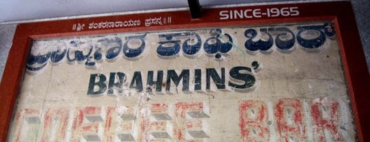 Brahmins Coffee Bar is one of Wanna try.