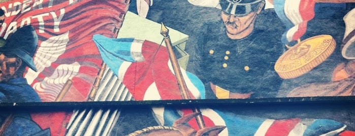 The Battle of Cable Street Mural is one of 1000 Things To Do In London (pt 2).