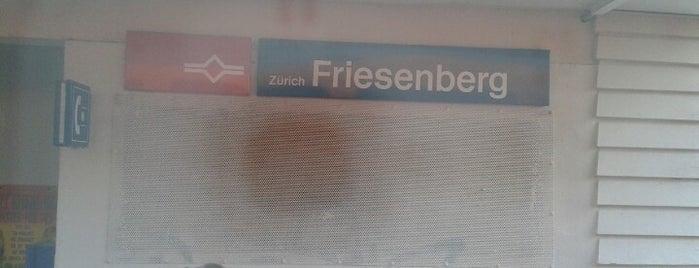 SZU Zürich Friesenberg is one of Bahnhöfe.