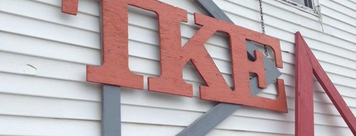 Tau Kappa Epsilon is one of Locations.