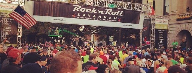 Rock n Roll Savannah Marathon Start is one of Rock n Roll Savannah Marathon and Half Marathon.