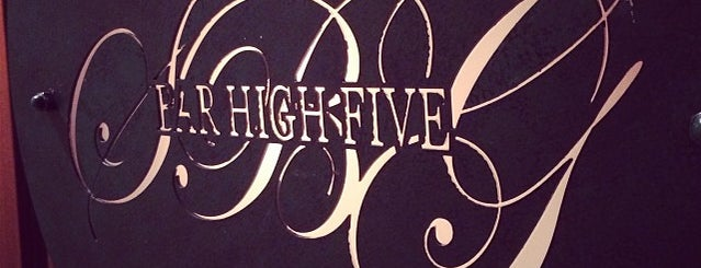 Bar High Five is one of Can I have a drink?.