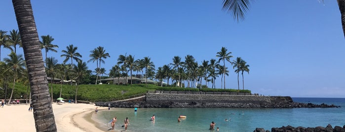 Mauna Lani Beach Club is one of HI spots.