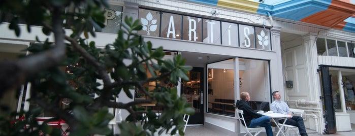 Artís Coffee is one of San Francisco Caffeine Crawl.
