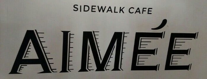 Aimée Sidewalk Cafe & Tartinery is one of Lugares pendientes.