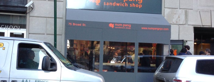 Num Pang Sandwich Shop is one of USA NYC MAN FiDi.