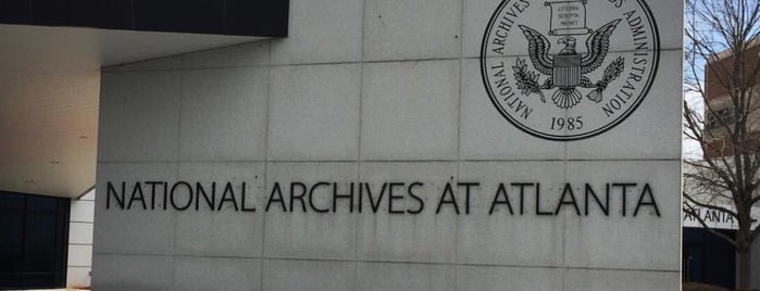 National Archives at Atlanta is one of Things to See.