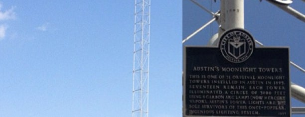 Moonlight Tower (15th & San Antonio) is one of Austin's Moonlight Towers.