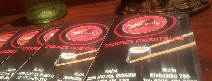 Shiitake Sushi & Wok is one of To edit.