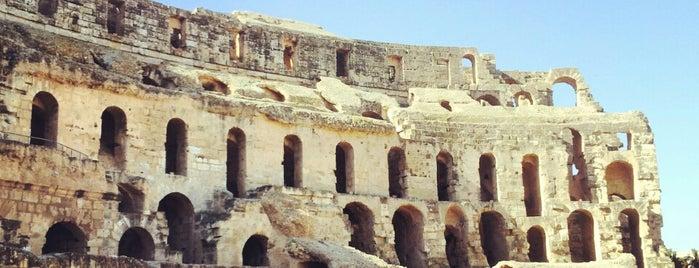 Amphitheater El Jem is one of UNESCO World Heritage Sites.
