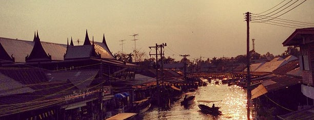 Amphawa Floating Market is one of relax'.