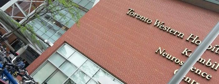 Toronto Western Hospital is one of Hospital ER Locations (Toronto).