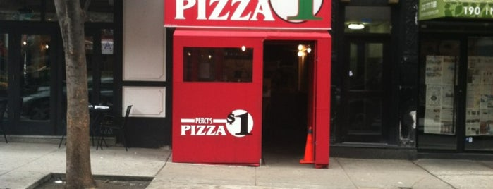 Percy's Pizza is one of Pizza Places Around NYU.
