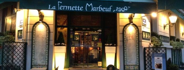 La Fermette Marbeuf is one of Paris.