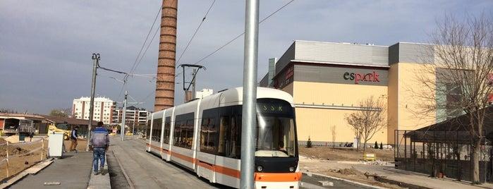Espark Tramvay Durağı is one of Eskişehir SSK - Osmangazi Tramvay Hattı.