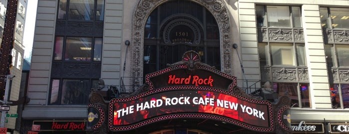 Hard Rock Cafe New York is one of Places I have been to.