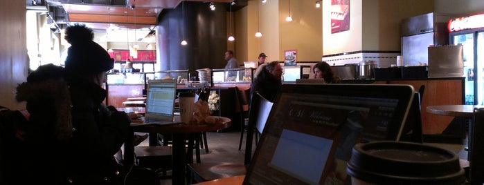 Cosi is one of Venues with free Wi-Fi in NYC.