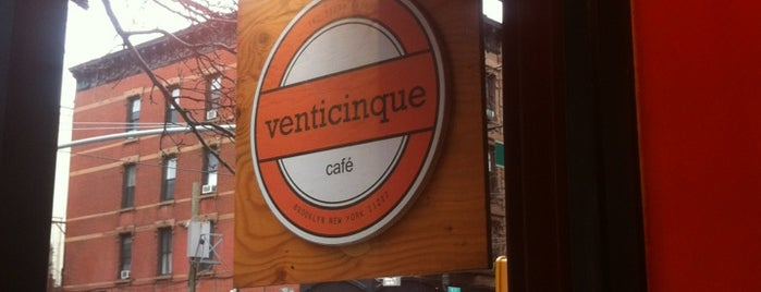 Venticinque is one of Notable Coffee Shops (NYC).