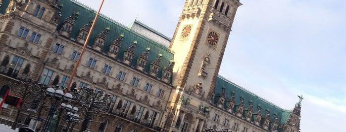 Rathausmarkt is one of Hamburg.