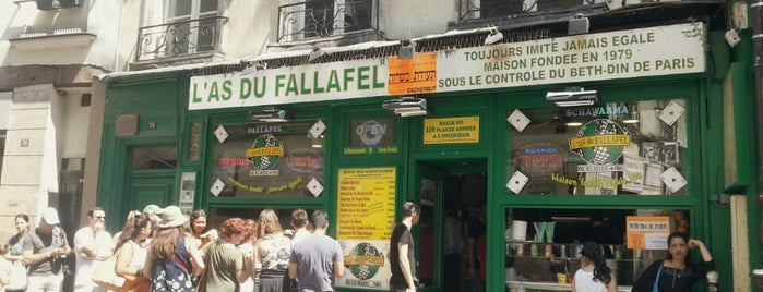 L'As du Fallafel is one of Paris, je mange.