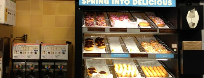 Dunkin Donuts is one of Manhattan's Best Coffee by Subway Stop.