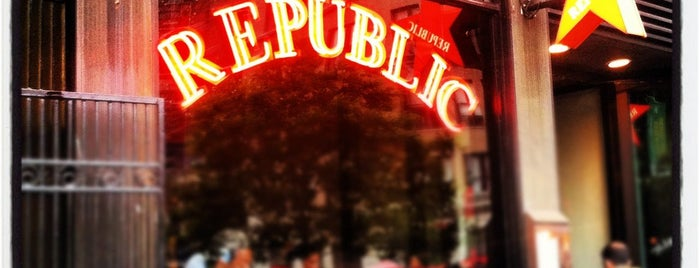 Republic is one of Best 200 Spots to Eat in Manhattan.