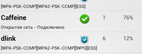 Caffeine is one of PW for Free Wi-Fi in Rivne.