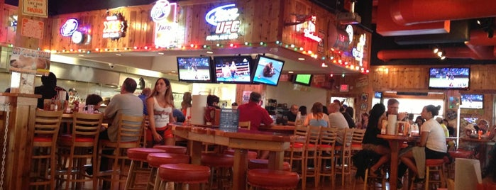 Hooters is one of around the country.