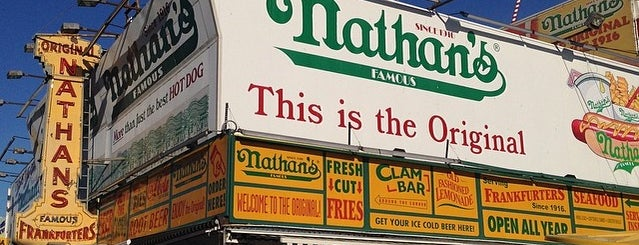 Nathan's Famous is one of Hot diggity dog..