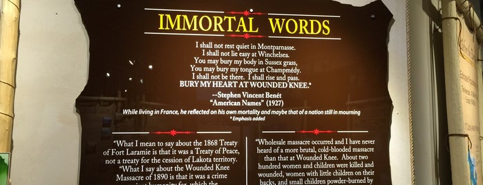 Wounded Knee Museum is one of Rapid City, SD.