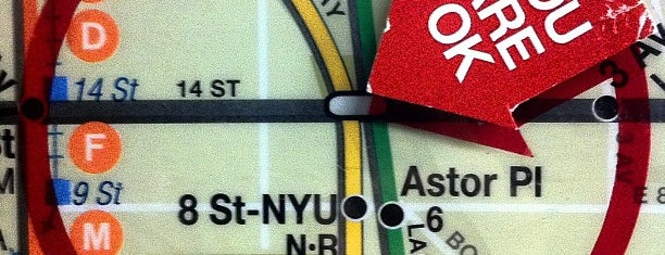 """MTA Subway - 14th St (1/2/3) is one of """"Be Robin Hood #121212 Concert"""" @ New York!."""