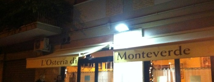 L'Osteria di Monteverde is one of Trattorie a Roma.