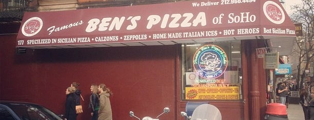 Ben's Pizza is one of Great Square Slices in NYC.