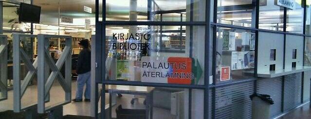 Myyrmäen kirjasto is one of HelMet-kirjaston palvelupisteet.
