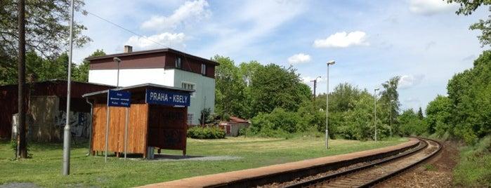 Železniční stanice Praha-Kbely is one of Železniční stanice ČR: P (9/14).