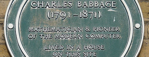Charles Babbage's Plaque is one of Steampunk London.