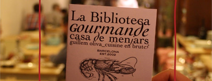 La Biblioteca Gourmande is one of In&Out Barcelona venues.